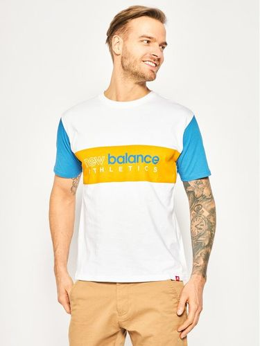 New Balance T-Shirt Essential Icon MT01525 Biały Relaxed Fit 109.00PLN