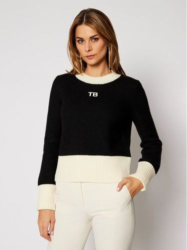 Tory Burch Sweter 76897 Czarny Relaxed Fit 1619.00PLN