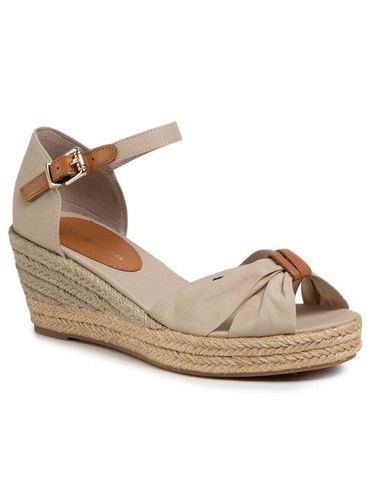 Tommy Hilfiger Espadryle Basic Opened Toe Mid Vedge FW0FW04785 Beżowy 399.00PLN